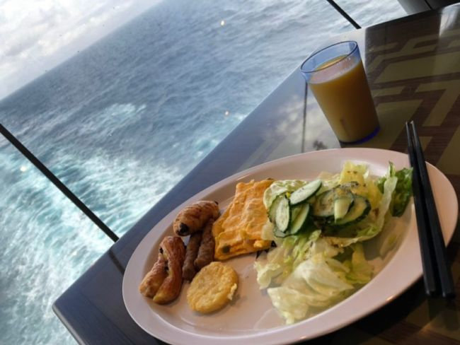 MSCスプレンディダのビュッフェ料理朝食